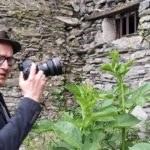 Visita del pittore tedesco Wolfgang Michel a Triora