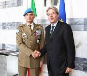 Colloquio del Ministro Gentiloni con il Gen. Luciano Portolano, Comandante missione UNIFIL II
