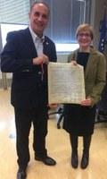 Il Presidente del PD Italiano in USA Pasquale Nestico ha incontrato la Vice Presidente del Consiglio Regionale della Lombardia Sara Valmaggi (PD).