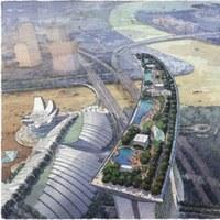 Singapore. inaugurato lo Sky Park, una piscina nel vuoto