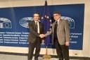 Bruxelles. Governatore Fontana incontra presidente Sassoli: Lombardia protagonista e locomotiva italiana anche in Europa